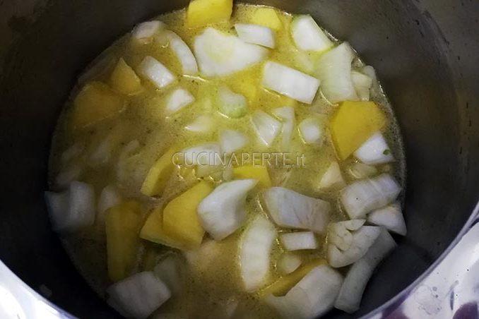 finocchi e patate frullati