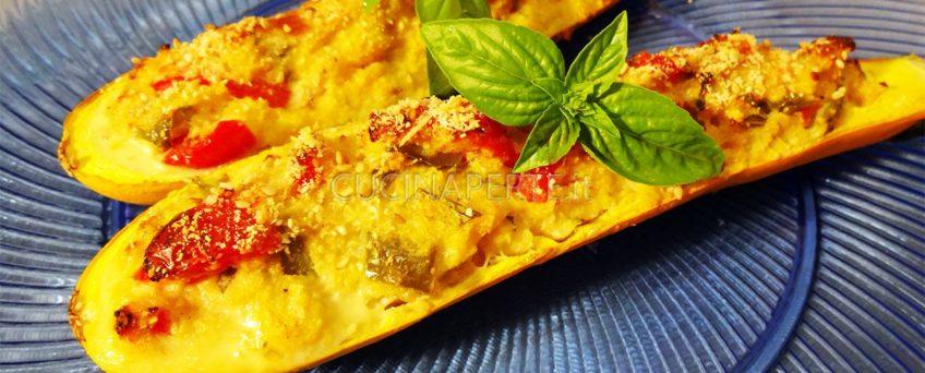 Zucchine gialle ripiene vegetariane
