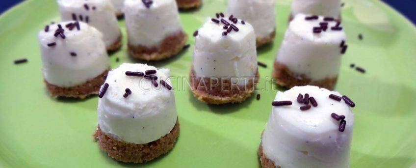 Bocconcini di cheesecake