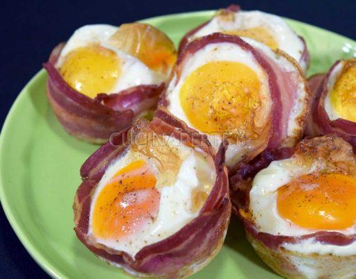 Cestini di pancarré e bacon