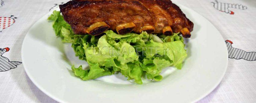 Costolette di maiale laccate al forno