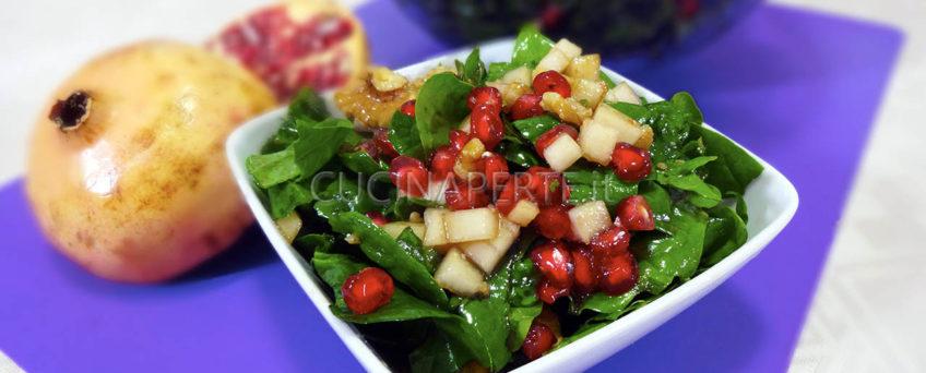 Insalata di spinaci e melograno