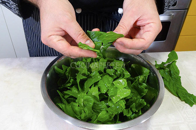 Sfogliare gli spinaci
