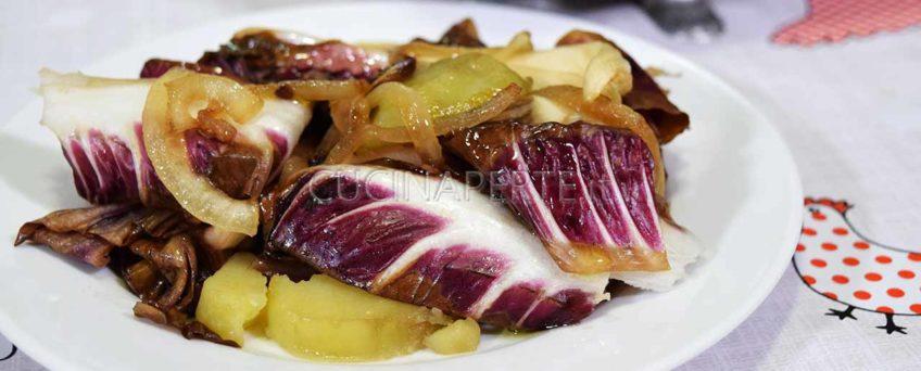 Radicchio e patate al forno