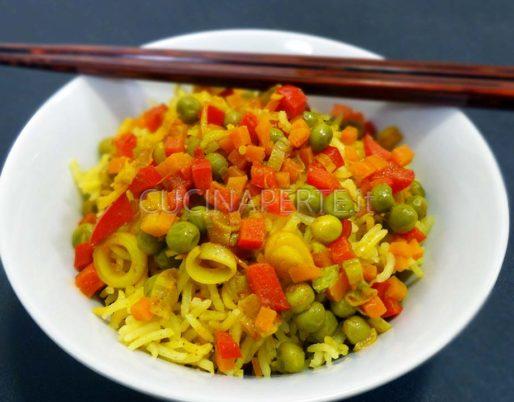 Riso speziato con verdure