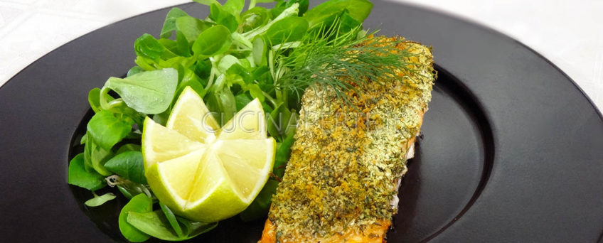 Salmone in crosta alle erbe