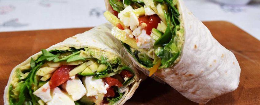 Wrap mediterraneo vegetariano