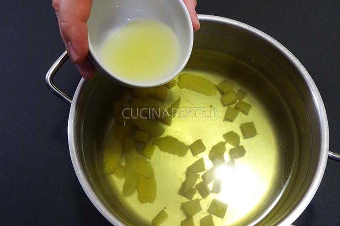 Aggiungere succo di limone
