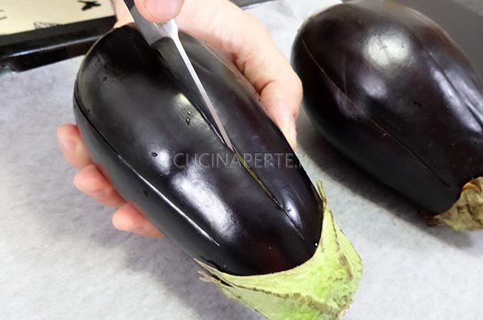 Incidere le melanzane