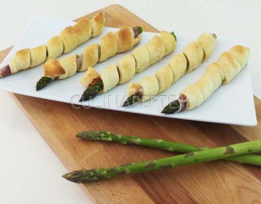 asparagi con pasta sfoglia