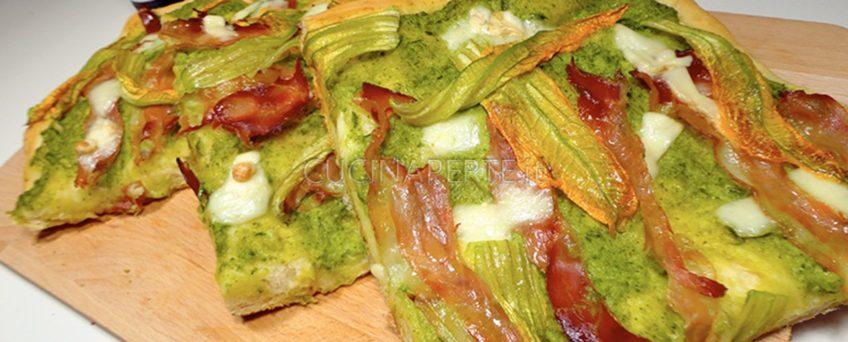 Pizza Fiori di Zucca e Speck