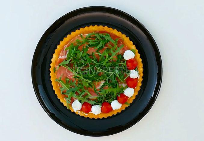 crostata salata decorazione
