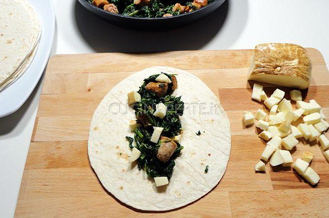 Tortillas con carne e verdura