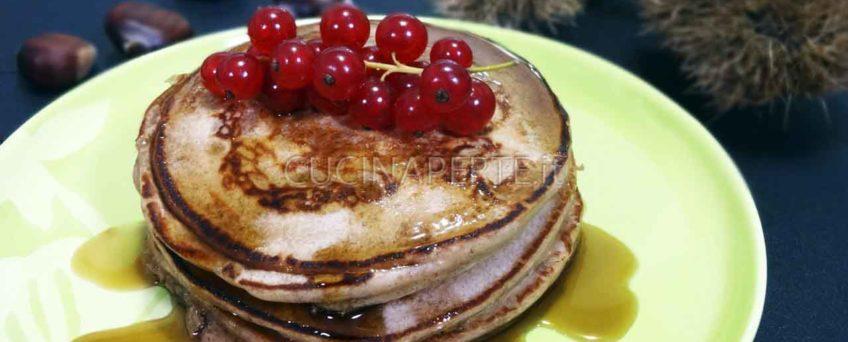Pancakes alle castagne impiattati