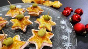 Stelle di Natale prosciutto e provola
