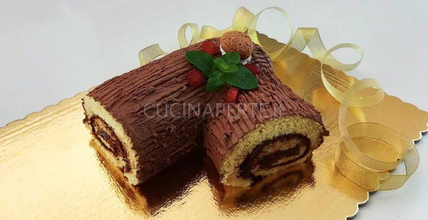 Tronchetto Di Natale Video Ricetta.Tronchetto Di Natale Con Nutella Buche De Noel