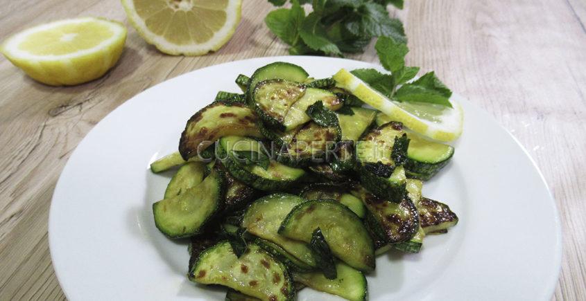 Zucchine menta e limone