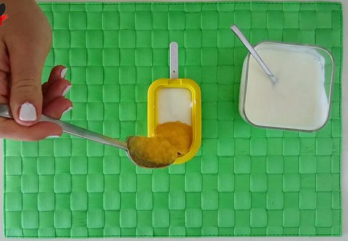 preparare gelato a frutta