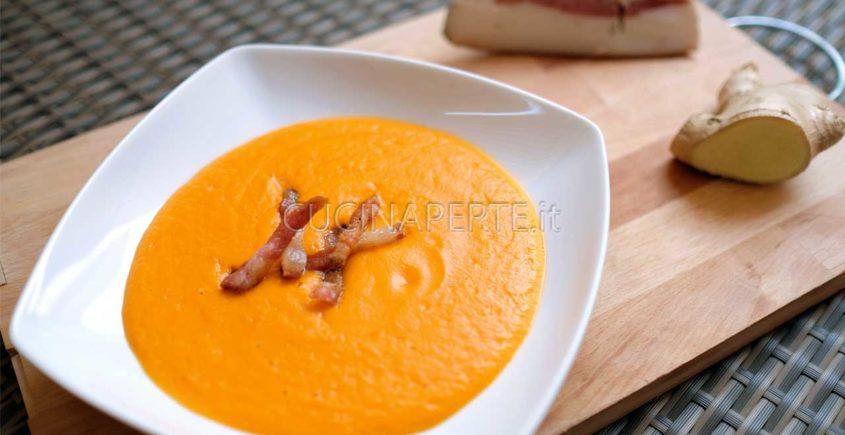 Vellutata di carote con zenzero