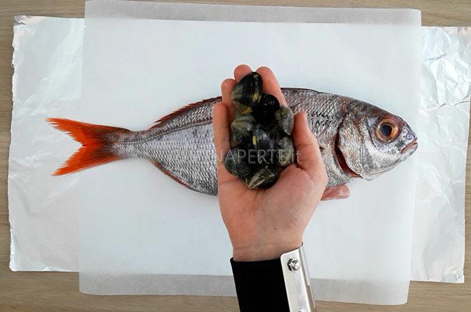 Pesce con le vongole