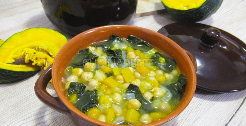 Zuppa di ceci, zucca e cavolo nero