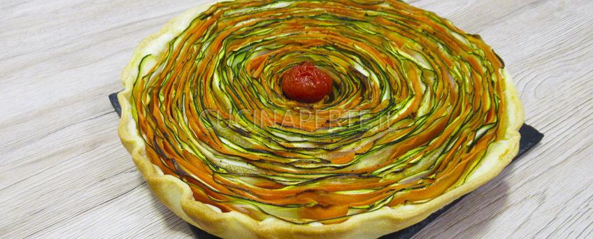 Torta salata di verdure a spirale