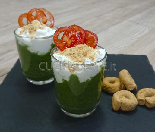 Bicchierini spinaci e burrata